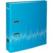 """Папка-регистратор Berlingo """"Neon"""", 70мм, ламинированная, неоновая голубая"""