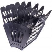 Лоток вертикально-горизонтальный СТАММ, пластиковый, 7ми секционный на 6 отд., черный (15) (ЛТ41)