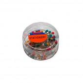 БУЛАВКИ КАНЦЕЛЯРСКИЕ ЦВЕТНЫЕ в пластиковой упаковке (50шт) DYC-1033