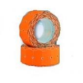 Этикет-лента OfficeSpace, 26*16мм, волна, оранжевая, 800 этикеток 243284