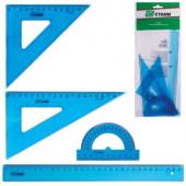 Набор геометрический большой(линейка 30см,треуг.2шт,транспортир)