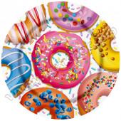 Тарелка бум Пончики и С Днем рождения