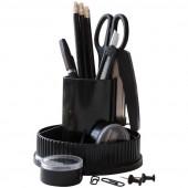 """Настольный органайзер OfficeSpace """"Карусель"""", 12 предметов, вращающийся, черный SS155_3194/ 205593"""