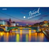 """deVENTE Папка-конверт на кнопке """"BRIDGE OF PARIS"""" А4 (330х235мм), 150мкм, непрозрачная с рисунком, и"""