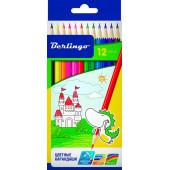 """Карандаши цветные Berlingo """"Замки"""", 12цв., заточен., картон, европодвес CP00112"""