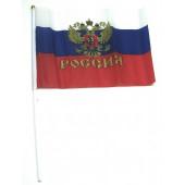 ФЛАГ России палка 30 см флаг 14 см ширина