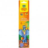 "Карандаши Мульти-Пульти ""Енот в Индии"", 06цв., заточен., картон, европодвес"