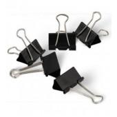 Зажимы канцелярские, черные 19 мм