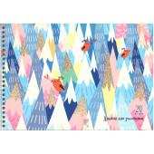 Альбом д/рис.А-4 20л. гребень Поющие птички (графика) (гребень, 20л.) АСБ201510