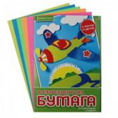 Набор цветной бумаги А4 5л 5цв в папке флуор HOBBY TIME 11-405-245
