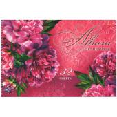 Альбом для рисования 32л спир Роскошные цветы с перф выб лак блест жест подлож 32А4Всп ассорти 5 вид
