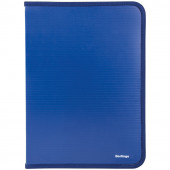 Папка на молнии А4 Berlingo, 500мкм, синяя ANm_04002