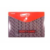 """deVENTE Папка-конверт на кнопке """"DON'T CARE"""" А5 (240х170мм), 150мкм, непрозрачная с рисунком, индиви"""