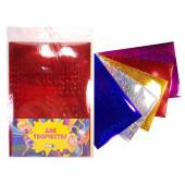 Набор цветной бумаги А4 5л 5цв без скреп ПЭТ голографическая самокл 183727 КОКОС