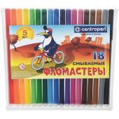 Фломастеры 18цв. 7790/18 ПИНГВИНЫ  Centro pen в пласт. упаковке