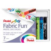 Пастель для ткани Fabric Fun Pastels, 7шт. Pentel