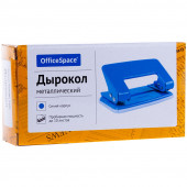 Дырокол OfficeSpace 10л., металлический, синий P201BU_1300