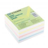 """Блок цветной бумаги для заметок СТАММ """"ОФИС"""", 90х90/500л, не проклеенный (24) (БЗ 55)"""