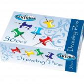 Кнопки силовые ,гвоздики цветные  (36шт)карт упак Centrum