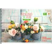 """Альбом для рисования 40л., А4, на гребне ArtSpace """"Цветы. Spring in the air"""""""